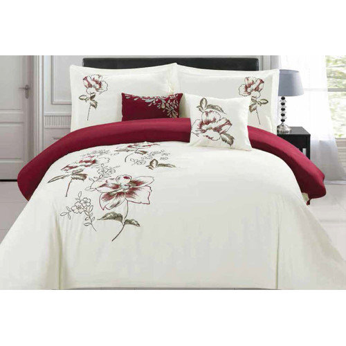 5-Piece Sinclair Embroidered Comforter Set