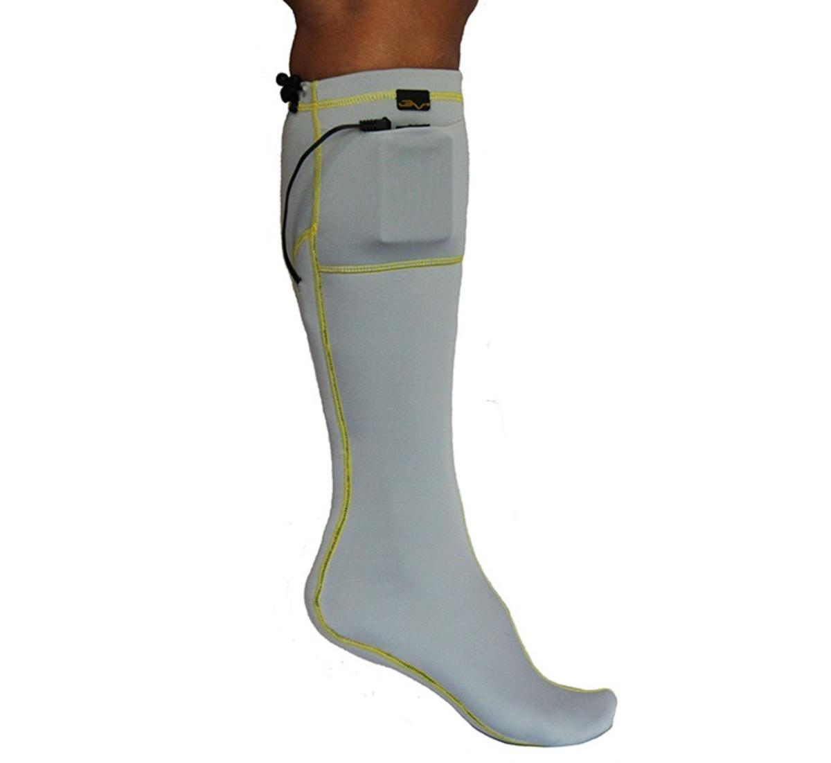 Volt 3V Rechargeable Battery Heated Sock Liner Gray by Volt Heat