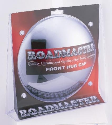 3//8 Lip Roadmaster 204CD Chrome Front Hub Cap with 5 Notch Cutout