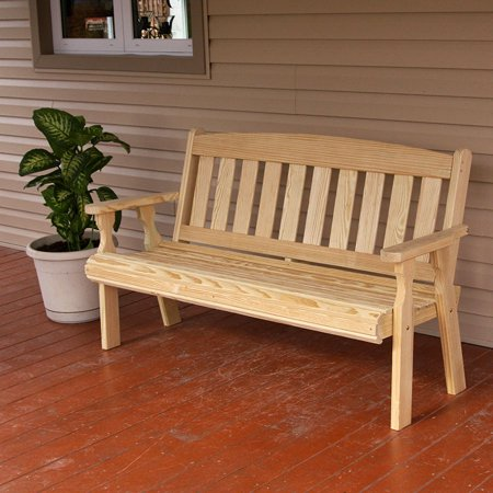 Amish Heavy Duty 800 Lb Mission Pressure Treated Garden Bench (4 Foot, -