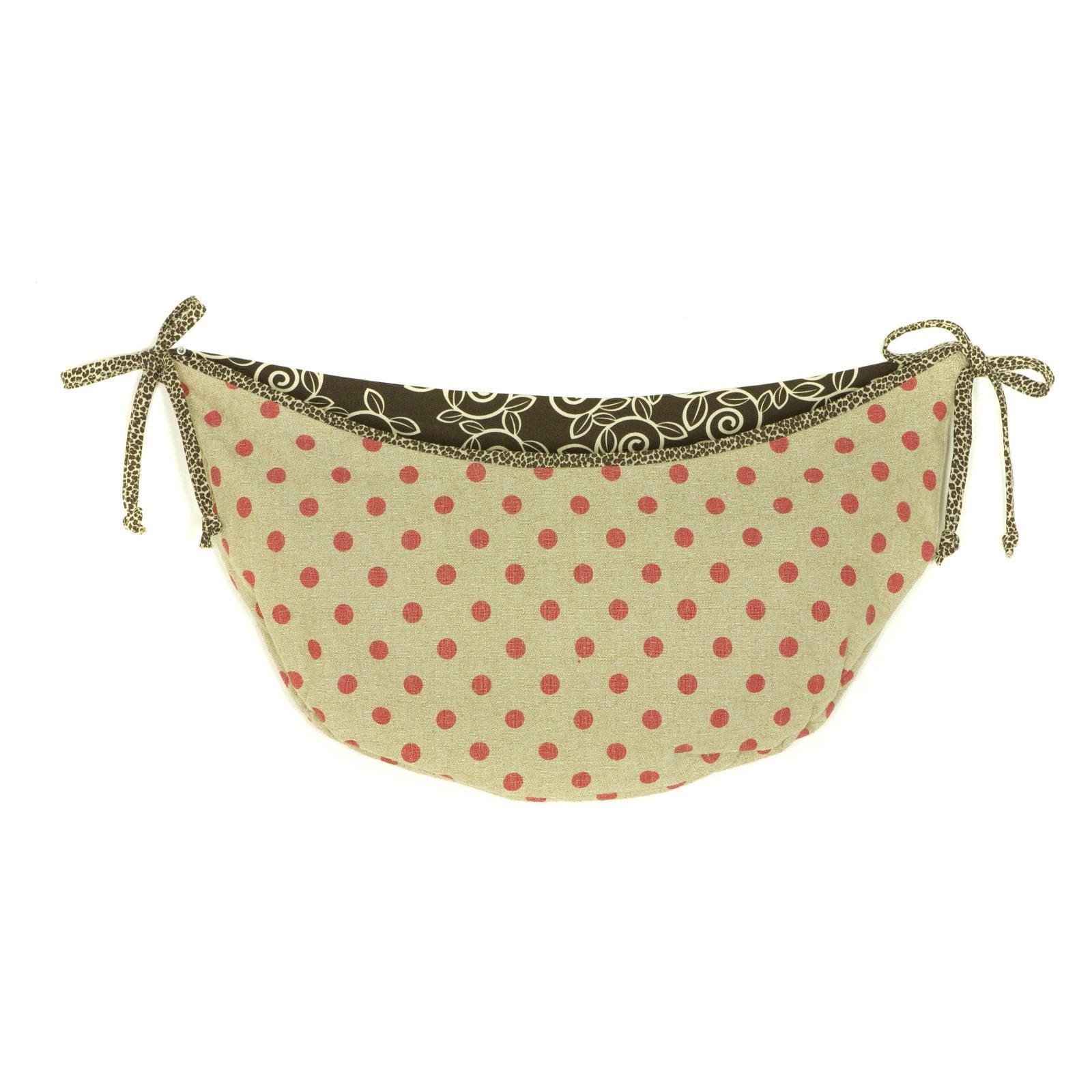 Cotton Tale Designs Raspberry Dot Toy Bag