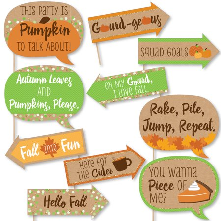 Thanksgiving Point Halloween Party (Funny Pumpkin Patch - Fall & Thanksgiving Party Photo Booth Props Kit - 10)