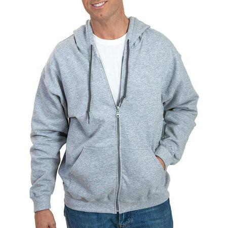 Gildan Mens Full Zip Hooded Sweatshirt