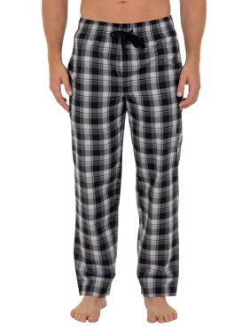 Fruit of the Loom Men's and Big Men's Microsanded Woven Plaid Pajama Pant