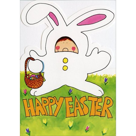 Card Suites (Recycled Paper Greetings Kid in Bunny Suit Easter)