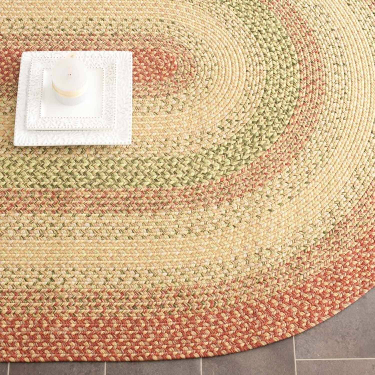 Safavieh Braided Matthew Polypropylene Area Rug, Rust/Multi