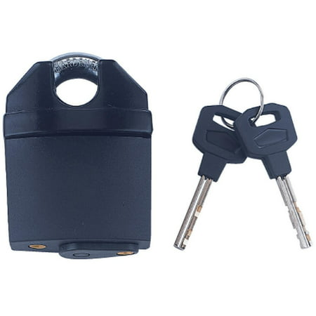 ProSource High Security Padlock, 2-1/2 In, 4 Pins, Hardened Steel Shackle, Black 4 Pin Tumbler Steel Padlock