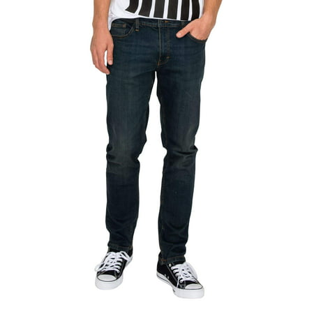 RING OF FIRE Men's Zenith Taper Five Pockets Straight Fit Stretch Jeans Tapered Fit Jeans