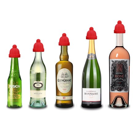 Christmas Wine Stoppers.Wine Stoppers Wine Corks Bottle Stoppers Funny Silicone Reusable Decorative Wine Bottle Stoppers And Corks Best Christmas Wine Gifts Set Of 3