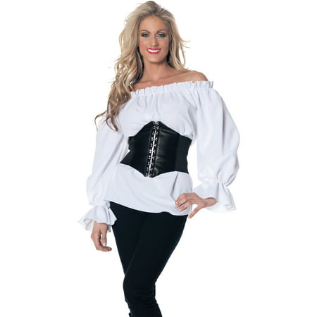 White Renaissance Long Sleeve Adult Halloween Costume - Snow White Prince Costume
