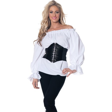 White Renaissance Long Sleeve Adult Halloween Costume - Renaissance Festival Costumes For Sale