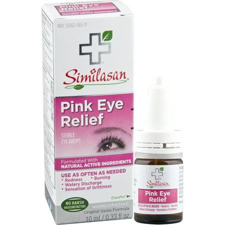 Similasan Pink Eye Relief Sterile Eye Drops 033 Fl Oz Walmartcom