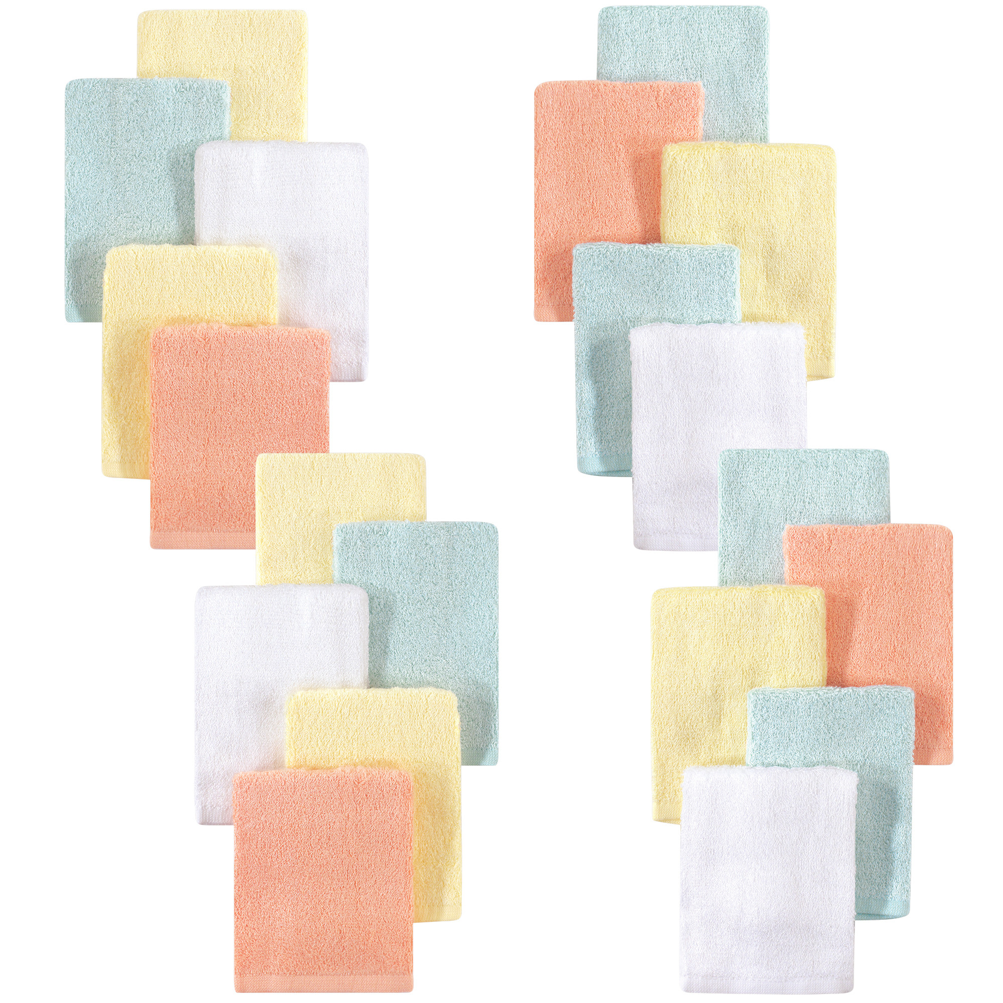 Little Treasure Luxuriously Soft Washcloths, 20 Pack, Yellow Peach by Little Treasure