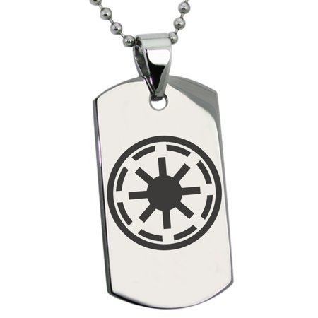 Stainless Steel Star Wars Galactic Republic Symbol Engraved Dog Tag