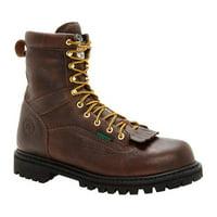 "Men's Georgia Boot G8341 Steel Toe 8"" Heritage Vibram Boot"
