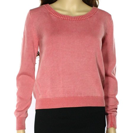 Rubbish NEW Pink Womens Size XS Ribbed Trim Crewneck Sweater