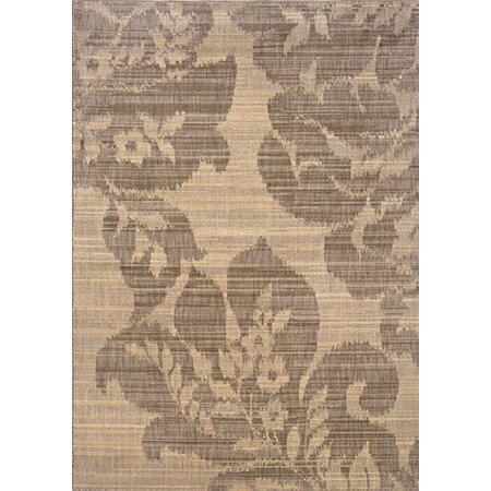 "Sphinx Milano Area Rugs - 2592E Transitional Casual Beige Floral Petals Leaves Contemporary Rug 3' 10"" x 5' 5"" Rectangle"