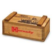 "HORNADY AMMO BOX 405 WINCHESTER 13""X6""X4"" WOOD"