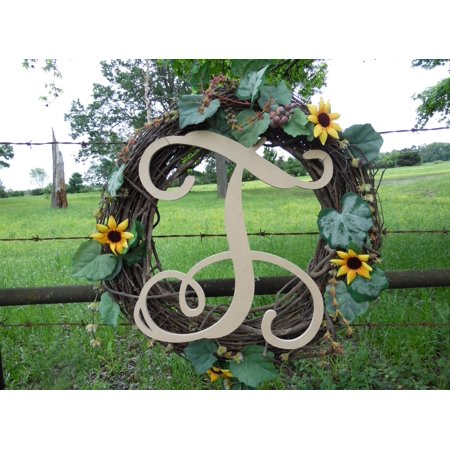 Wooden Letter Vine (T) Unfinished Wood Craft Letter, Paintable Wall Decor (Vine Halloween Letter)