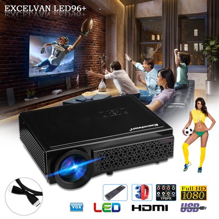 "(Excelvan Potable Home Theater Projector, 5.8"" TFT LCD HD 3000 Lumens LED Projector Native Resolution 1280*800 Support 1080P ATV with HDMI for Laptop/Smartphone /PS4/TV-Box)"