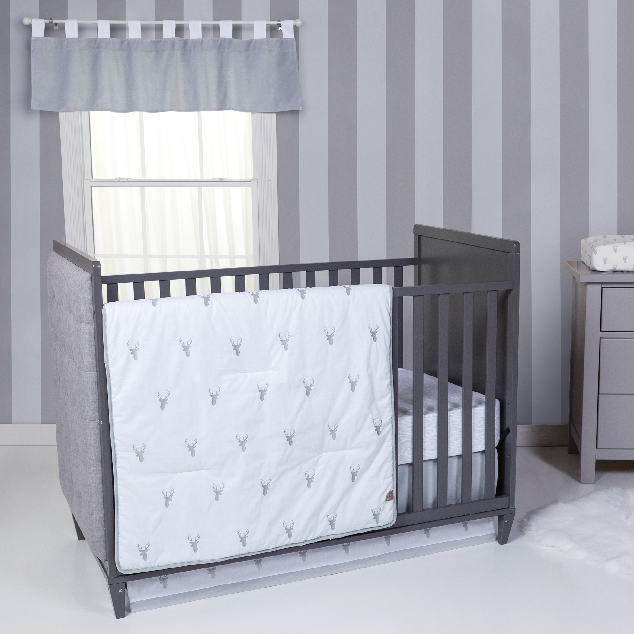 Trend Lab Stag Head 3 Piece Crib Bedding Set
