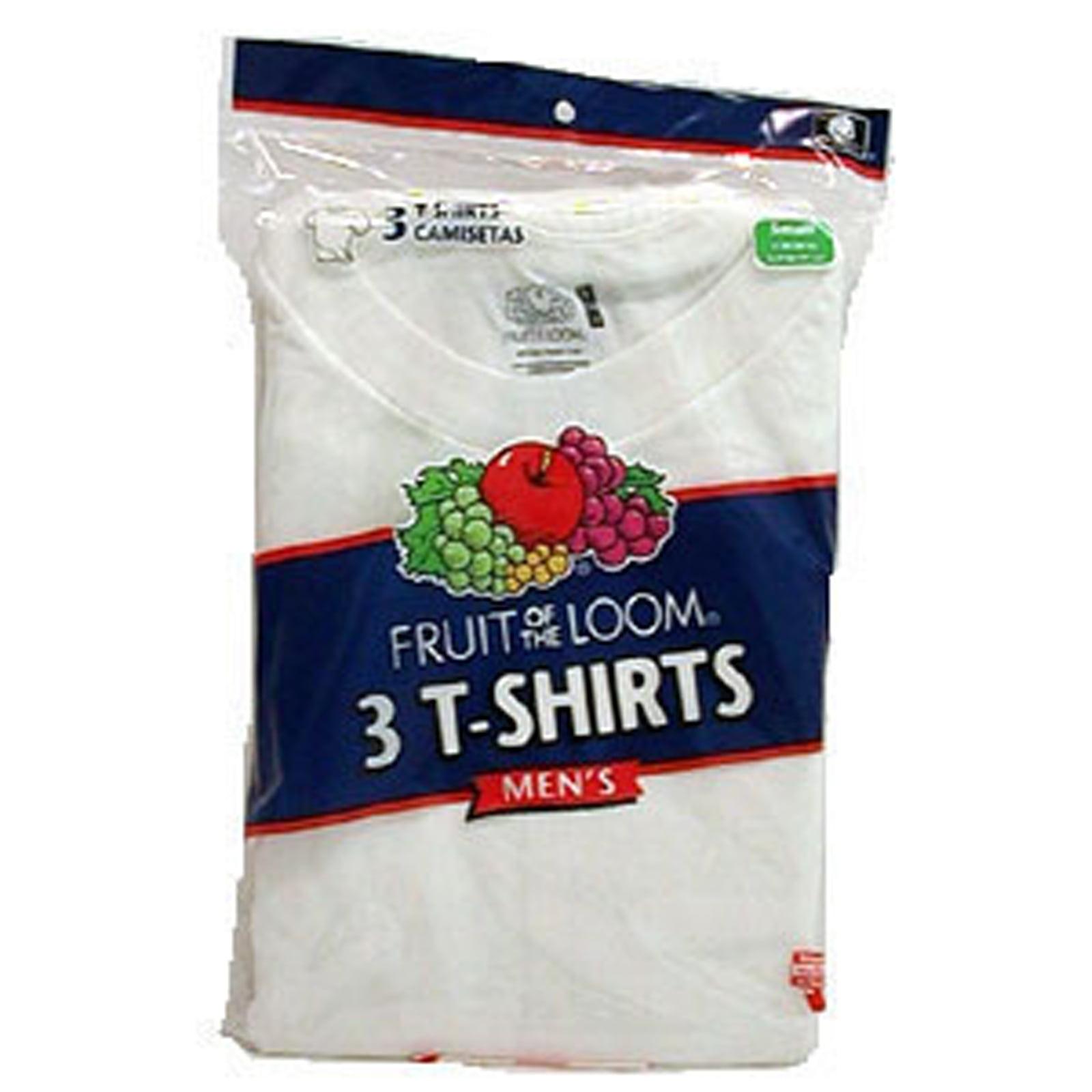 Men's White Crew Neck T-Shirts 3-Pack, White, 3Xl - 1 Pkg