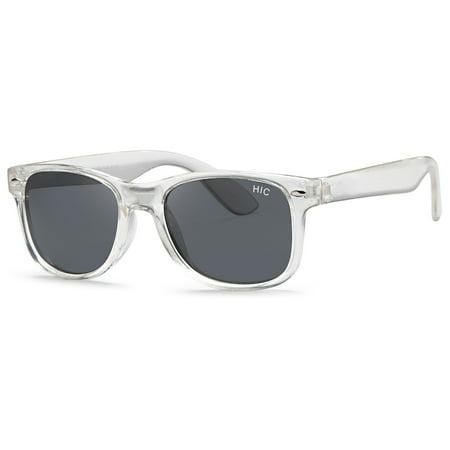 Hawaiian Island Creations Classic Active Kids Polarized Polycarbonate Sunglasses - Transparent Frame / Smoke