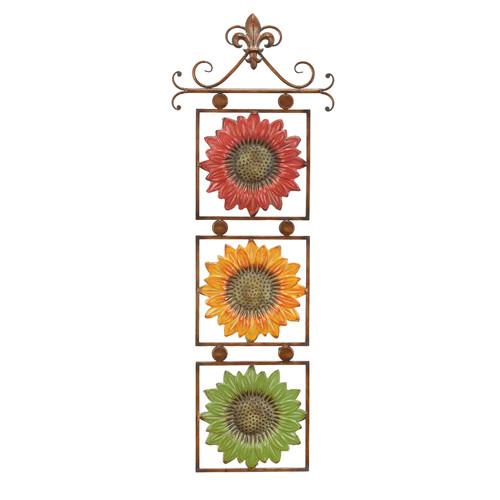 Decmode Metal Sunflower Decor Multi Color Walmart Com