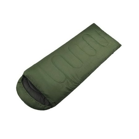 Large Single Warm Soft Adult Waterproof Sleeping Bag (Green)](Soft Sleeping Bag)
