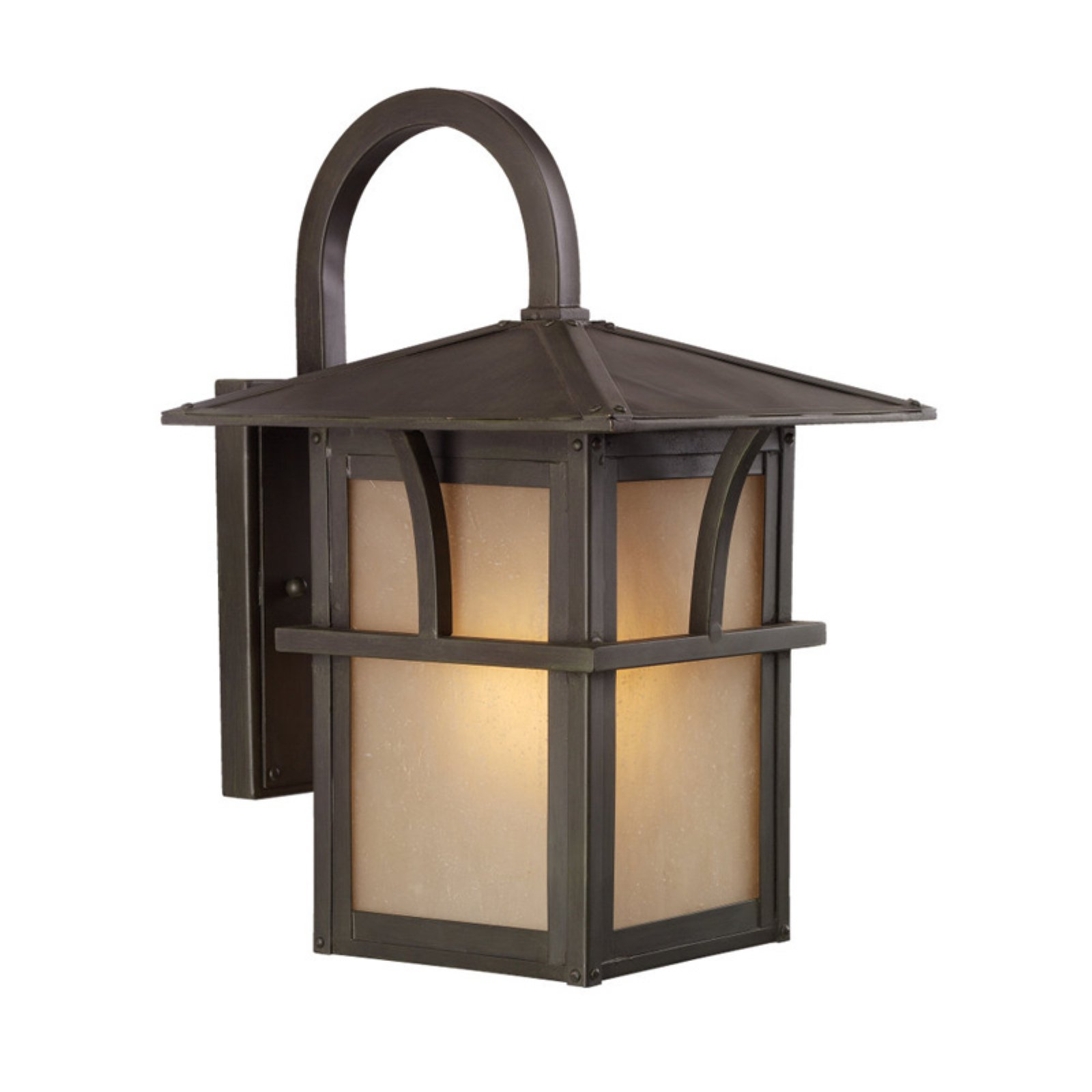 Sea Gull Medford Lakes Outdoor Wall Lantern - Statuary Bronze