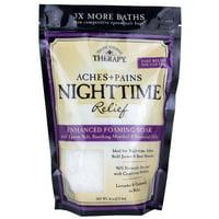 Village Naturals Therapy Aches & Pains Nighttime Relief Foaming Bath Soak Lavender & Chamomile 36 Oz