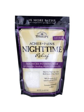 Village Naturals Therapy Aches & Pains Nighttime Relief Foaming Bath Soak Lavender & Chamomile 36 Oz