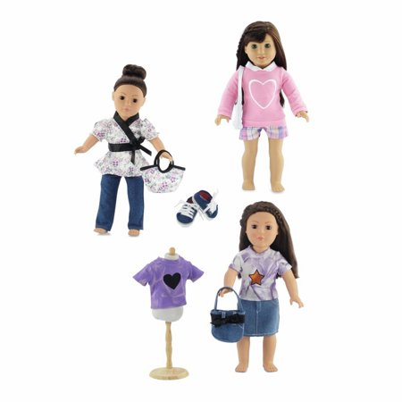 18-inch Doll Clothes | Value Bundle- Includes 3 18