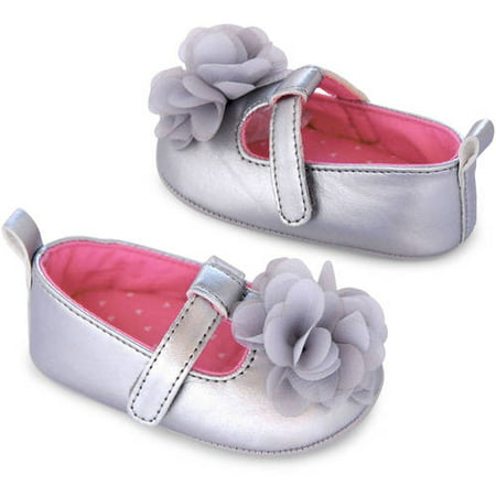 87f54b589a2d Child of Mine by Carter s - Newborn Baby Girl Mary Jane Flat Shoes -  Walmart.com