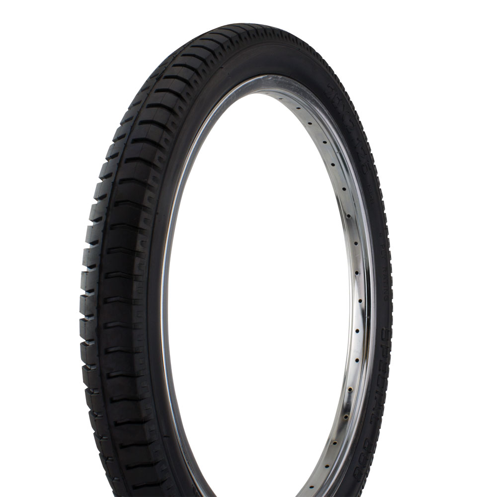"20"" x 2.125"" Classic Krate Style Bicycle Tire P-1061 (Black/Black)"