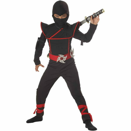 Stealth Ninja Child Halloween Costume - Red Head Guy Halloween Costume