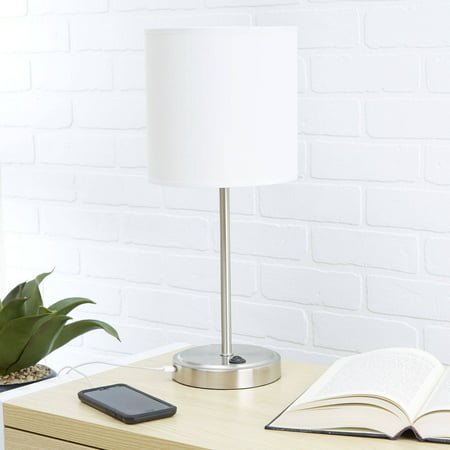 mainstays white grab and go stick lamp with usb port. Black Bedroom Furniture Sets. Home Design Ideas