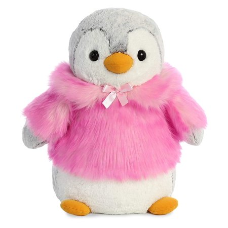 good out x cheap for discount special discount Pom Pom Penguin in Winter Coat 16 inch - Stuffed Animal by Aurora Plush  (99008)