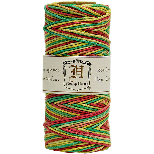 Hemp Cord Spool Variegated 20# 205 Feet/Pkg