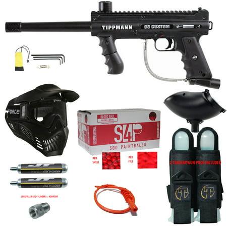 TIPPMANN 98 CUSTOM ACT BASIC .68 CAL PAINTBALL GUN KIT READY PLAY (Grip Paintball Gun Starter Package)