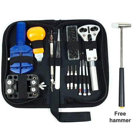 Felji Watch Repair Tool Kit Opener Link Remover w/ Carrying (Best Computer Repair Tool Kit)