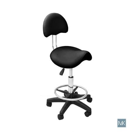 Esthetician Chair Technician Stool KELLY BLACK Saddle Chair for Spa, Salon, Office