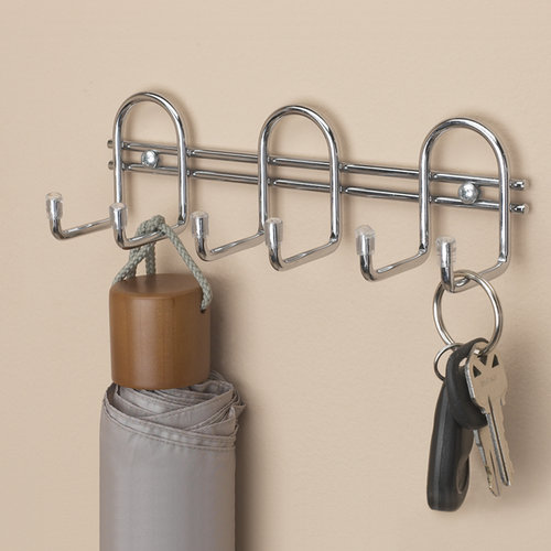 "ClosetMaid 6"" Wire Hook Organizer, Chrome"