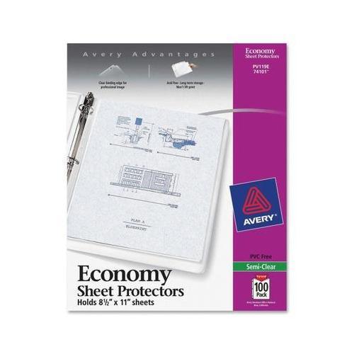 Avery Economy Weight Sheet Protector Ave74101 Walmart Com