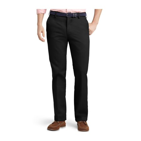IZOD Mens American Flat Front Casual Chino Pants black 34x29