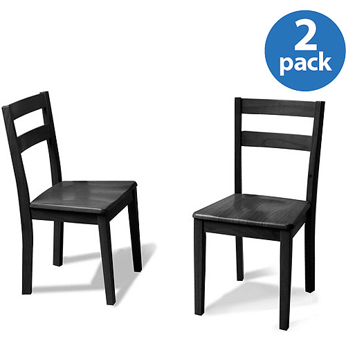 Mainstays Set of 2 Parsons Dining Chairs Black Walmart