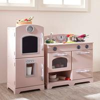 Teamson Kids - Little Chef Fairfield Retro Play Kitchen - Pink