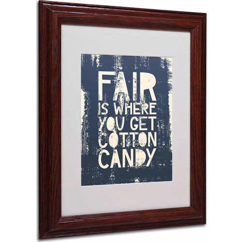 "Trademark Fine Art ""Fair V"" Matted Framed Art by Megan Romo, Wood Frame"