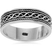 Men's Sterling Silver Bali Design Fashion Ring, 6.5mm