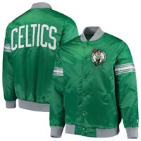 Boston Celtics Starter The Draft Pick Varsity Satin Full-Snap Jacket - Kelly Green